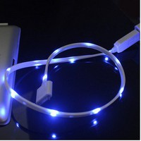 Cool Sparking Luminous USB Data Sync Charging Cable Cord Iphone 4/4s