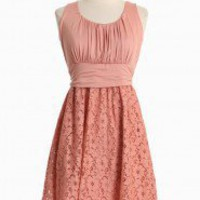 Simply Charming Curvy Plus Dress In Peach | Modern Vintage Curvy Plus