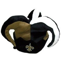 New Orleans Saints Plush Jester Mardi Gras Hat