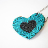 Wisdom of the Heart / Handmade polymer clay necklace