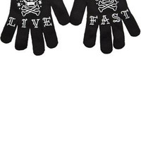Live Fast Gloves by Sourpuss Clothing