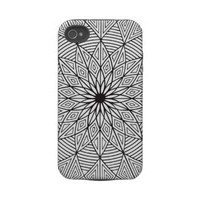 Black  White Geometric iPhone 4 Case from Zazzle.com