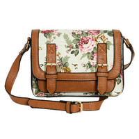 Floral Mini Crossbody Satchel | Shop Way Out West at Wet Seal