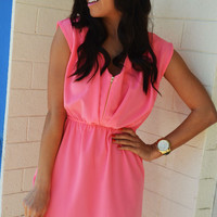 Brighten Up Your Days Dress: Pink | Hope's