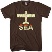 Fly Seattle Tshirt SEA SeattleTacoma Airport Men by smashtransit