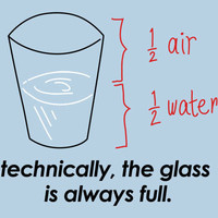 Technically, The Glass Is Always Full T-Shirt | SnorgTees