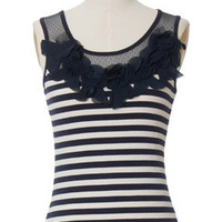 Striped Rosette Tank