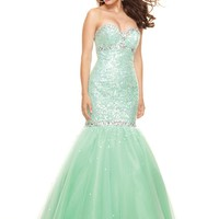 Paparazzi by Mori Lee 93004 Mint Mermaid Dress