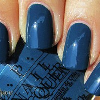 OPI Nail Polish (Z16-Ski Teal We Drop) NEW Swiss Collection