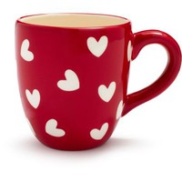 Red and White Hearts Mug | Sur La Table