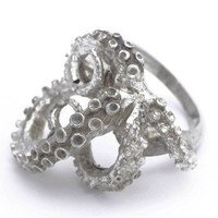 ShanaLogic.com - 100% Handmade & Independent Design! Silver Tentacles Ring - Girls