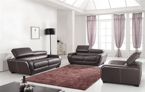 Buy Modern Brown Leather Living Room Set 2750 at Discount Furniture