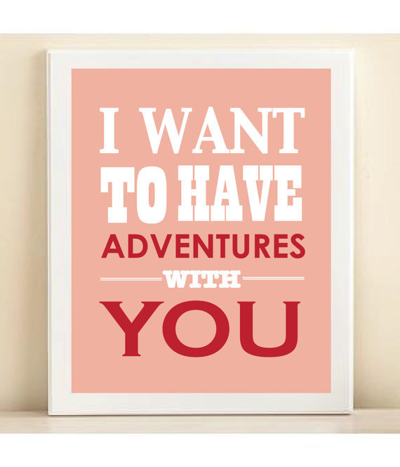 Valentine's Day Adventures print poster by AmandaCatherineDes