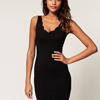ASOS | ASOS Body-Conscious Dress with Scalloped Detail at ASOS