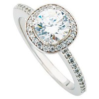 # HUGE 1.40 CT REAL DIAMOND ENGAGEMENT ROUND CUT RING 14K WHITE GOLD HALO PAVE