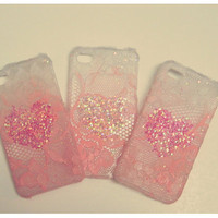 Ombre Iphone Lace Case in 'I have fluffy love for you'