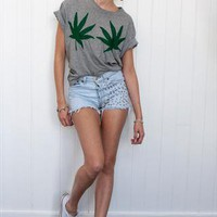 Cannabis print t-shirt from REDROCK
