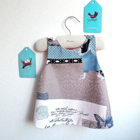 Girls Dress - Reversible Pinafore top or dress - The Marseille - French Style - 6 months to 5Y