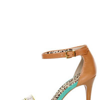 Jessica Simpson Jessies Cloud Stamped Snake Color Block Heels
