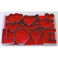 R & M Love 9 Piece Cookie Cutter Set: Kitchen & Dining