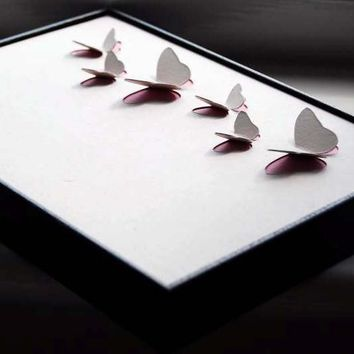 Pink Butterflies // Framed 3D Collaborative Artwork