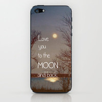 To the Moon and Back iPhone &amp; iPod Skin by Olivia Joy StClaire | Society6