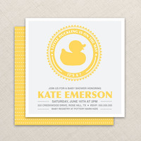 Baby Shower Invitation Duck Baby Shower Invitation by EllisonReed