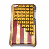iPod touch 4 hand Case Cover with bronze pyramoid stud for apple ipod touch 4 hard Case, ipod touch 4 case  c 12