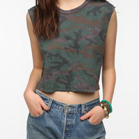 Truly Madly Deeply Printed Cropped Muscle Tee