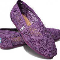 Purple Crochet Women&#x27;s Classics | TOMS.com
