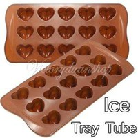 Heart-shape Silicone Ice Chocolate Cake Jelly Candy Mould Mini Tray Pan Cube
