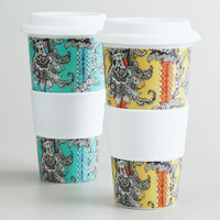 Paisley Floral Non-Paper Cups, Set of 2