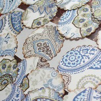 Stickers Paisley Envelope Seals in Blue set of by PinkiesPalace