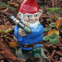 UNPAINTED Combat Garden Gnome with Rocket Launcher by thorssoli