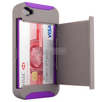 Gray/Purple Credit Card ...