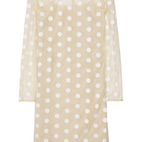 Stella McCartney Polka-dot embroidered tulle dress – 50% at THE OUTNET.COM