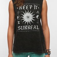 Urban Outfitters - Mont La Roc Mineral Washed Surreal Muscle Tee