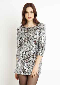 ideeli | BODY LANGUAGE Lony Allover Sequin Dress