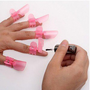 Stylish 10pcs Nail Polish Protection Clipper Protector Clip Tip