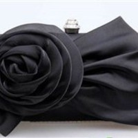 Eva Rose Clutch in Black
