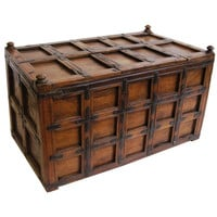 1STDIBS.COM - Antique Swan - Iron-Bound Stick Box from British Colonial India (The Raj)