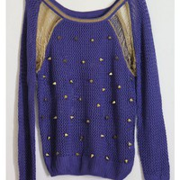 Royal Knit Spiked Sweater