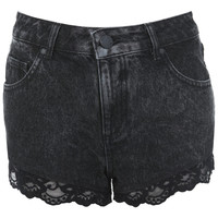 Black High Waist Lace Short - Shorts - Clothing - Miss Selfridge