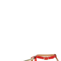 Wild Diva Lounge Tabiana 01 Orange Red and Gold Thong Sandals