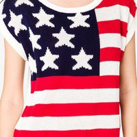 American Flag Sweater | FOREVER 21 - 2035560398