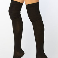 The Nomad Over the Knee Socks in Black