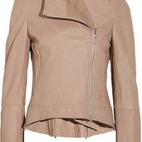 KAUFMANFRANCO | Washed-leather biker jacket | NET-A-PORTER.COM