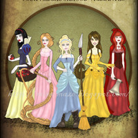 Fairytale Fighters Femme Fighters Illustration A4 by missmaze