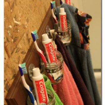 Projects BY ME / Bathroom Organization Hook Board (follow the link for more details)