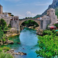 When I Win the Lottery   / 16th Century Ottoman Bridge in Mostar, Bosnia and Herzegovina